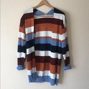 Multicolored medium cardigan